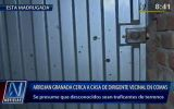Comas: mafia de traficantes lanzó explosivo contra dirigente