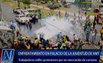 Protesta en Villa María del Triunfo terminó con enfrentamientos