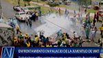 Protesta en Villa María del Triunfo terminó con enfrentamientos - Noticias de basura en las calles