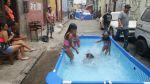 Las piscinas y el primer domingo de carnavales en Lima [Fotos] - Noticias de escasez de agua