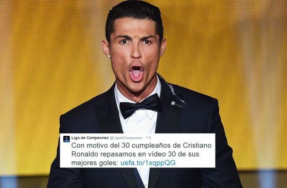 Twitter: el mundo del fútbol saluda a Cristiano Ronaldo