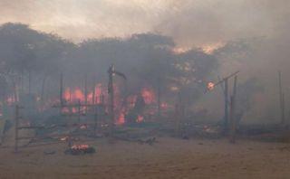 Piura: incendio en Sullana dejó doce viviendas inhabitables