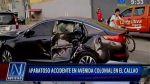 Chofer chocó a 125 km/h en el Callao y solo sufrió golpes leves - Noticias de miguel gonzales huapaya