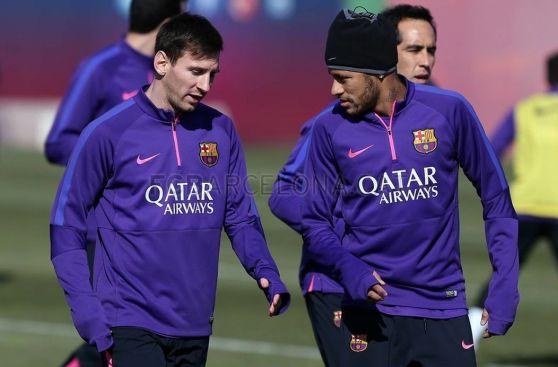 Barcelona practicó entre risas previo al duelo de Copa del Rey