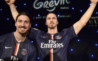 Zlatan Ibrahimovic presentó su estatua de cera en París