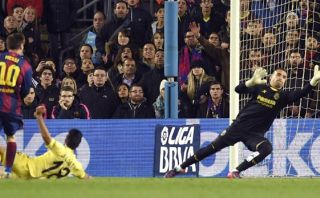 Lionel Messi anotó el 1-0 en el Barcelona vs. Villarreal