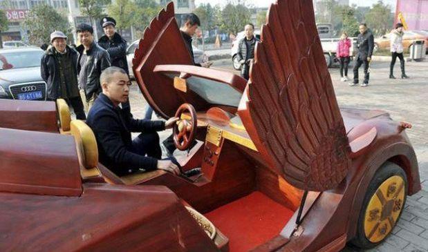 Yu Jieato invirtió más de 1.800 dólares en su singular creación. (Fotos: Difusión)
