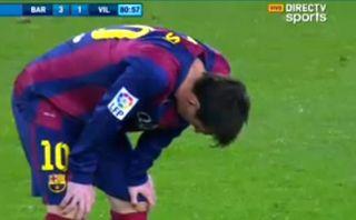 Lionel Messi volvió a tener arcadas en partido ante Villarreal