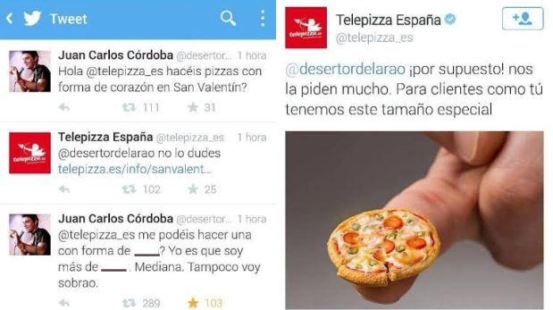 Twitter: genial respuesta de pizzería española a grosero troll