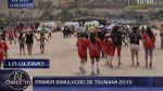 Costa Verde: bañistas participaron en simulacro de tsunami - Noticias de simulacro