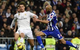 Cristiano Ronaldo falló tres ocasiones de gol ante el Deportivo