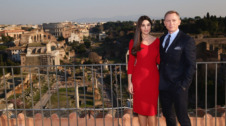James Bond: Daniel Craig Y Monica Bellucci En Roma Para