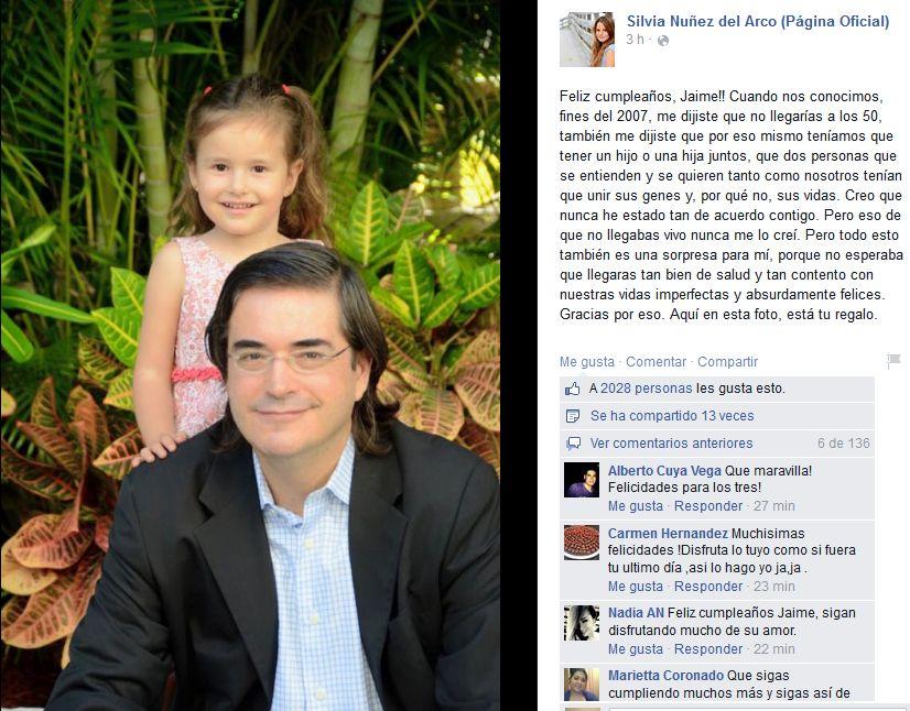 Silvia Nunez Del Arco Le Envio Emotivo Mensaje A Jaime Bayly Tvmas El Comercio Peru Estudió en tres colegios de lima: el comercio peru