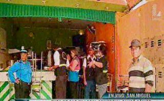 Deflagración en restaurante de San Miguel dejó tres heridos