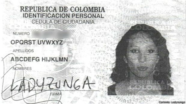 ABCDEFG, la mujer colombiana que se llama como el abecedario