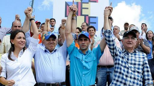 En enero de 2015 Machado, Torrealba, Capriles y Ledezma conmemoraron el 57 aniversario del fin del régimen militar de Marcos Pérez Jiménez.