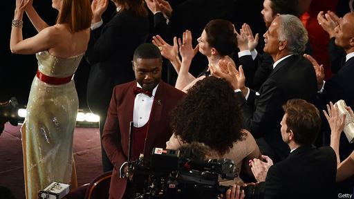 El actor David Oyelowo no ha podido contener las lágrimas.