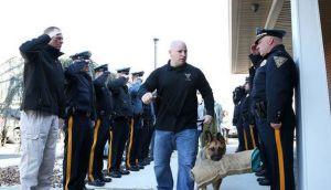 Facebook: perro policía enfermo tuvo emotiva despedida