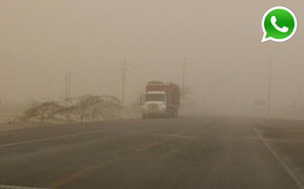WhatsApp: tormenta de arena afectó zonas de Pisco y Paracas