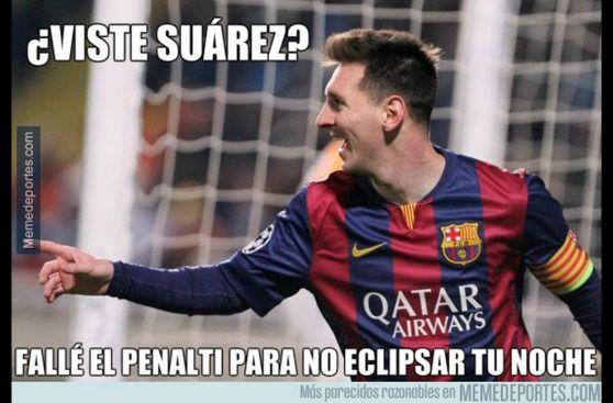 Lionel Messi es víctima de memes por fallar penal en Champions