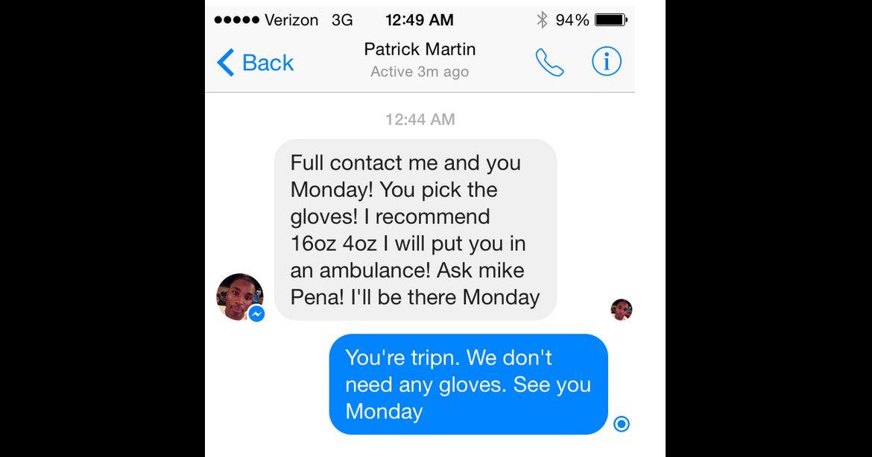 Una captura de la conversación de Josh Neer.