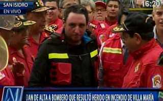 Bombero que sufrió graves quemaduras en VMT fue homenajeado