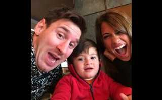 Lionel Messi celebra cumpleaños de Antonella con este selfie