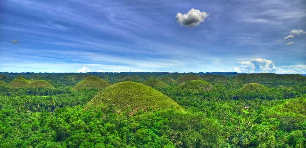 Mira estas 'colinas de chocolate' en Filipinas