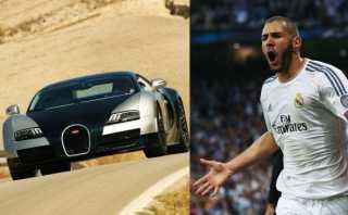 Instragram: Benzema se luce junto a su lujoso Bugatti Veyron
