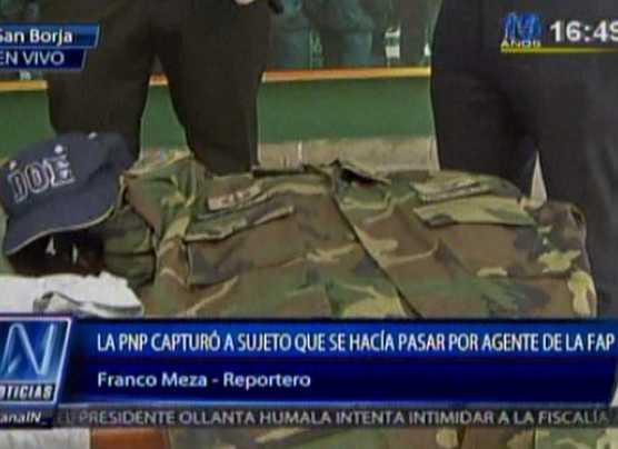 Falso teniente FAP que ofrecía armas fue detenido en Chacarilla