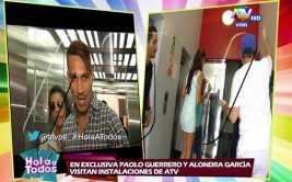 Alondra García Miró y Paolo Guerrero llegaron juntos a Lima