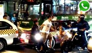 WhatsApp: golpean a taxista por ubicarse sobre crucero peatonal