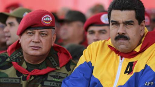 Nicolás Maduro y el presidente de la Asamblea Nacional, Diosdado Cabello, los herederos políticos de Chávez.