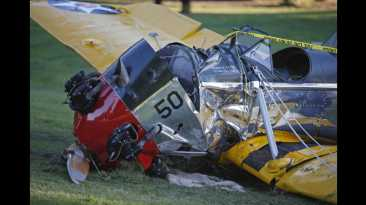 Así quedó la avioneta en la que se accidentó Harrison Ford