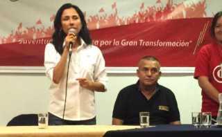 Nadine Heredia y Daniel Urresti asisten a plenaria nacionalista