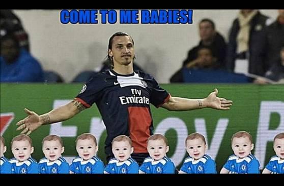 Zlatan Ibrahimovic y los memes por llamar