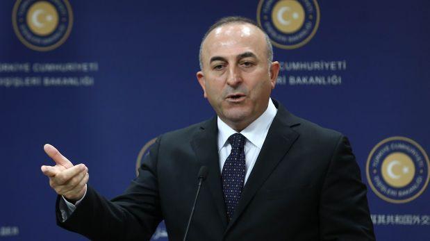 Ministro turco Mevlüt Çavusoglu. (AFP)