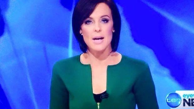 Facebook: periodista se vio en problemas por diseño de vestido