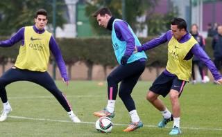 Barcelona vs. Manchester City: Messi entrenó en día libre