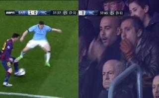 Guardiola: el gesto de Pep tras una huacha formidable de Messi