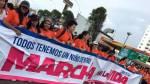 Marcha por la Vida: inicia movilización por la avenida Brasil - Noticias de brigida silva