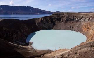 Observa el sorprendente cráter lunar de un volcán en Islandia