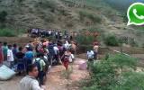 WhatsApp: huaico bloqueó carretera Chilete - Cajamarca [FOTOS]