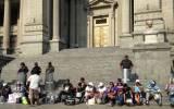 Waldo Ríos: seguidores acatan huelga de hambre y se desangran