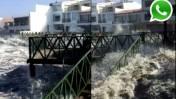 WhatsApp: fuerte oleaje azota balneario Las Delicias [VIDEO]