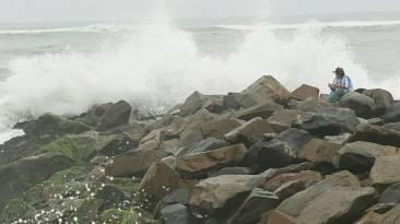 Costa Verde: policía cierra playas por oleaje moderado