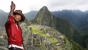Pharrell Williams está en Cusco para visitar Machu Picchu