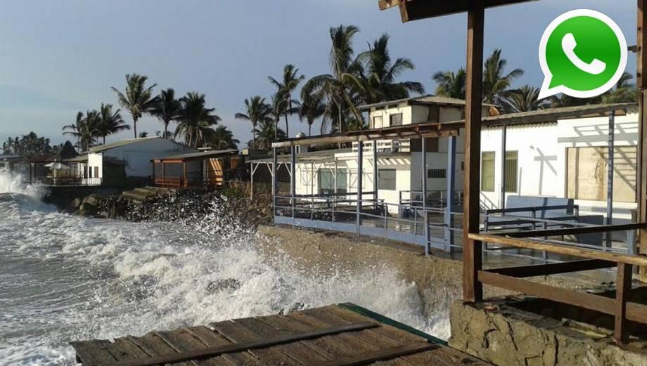 WhatsApp: así golpearon oleajes anómalos en la costa (FOTOS)