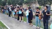 Av. Arequipa: hicieron cadena humana por reforma de transporte