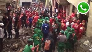 Vía WhatsApp: el apoyo de los bomberos a afectados de Chosica